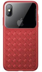 Акция на Baseus для iPhone XS Max Glass & Weaving Red (WIAPIPH65-BL09) от Repka