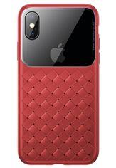 Акция на Baseus для iPhone XS/X Glass & Weaving Red (WIAPIPH58-BL09) от Repka