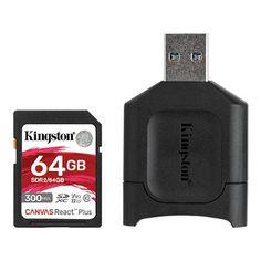 Акция на KINGSTON SDXC 64GB Class 10 UHS-II U3 + MLP SD Reader (MLPR2/64GB) от Repka