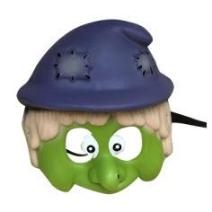 Акция на Детская маска One Two Fun Halloween Accessories Гном, 18,5х17,5х5,5 см, салатово-фиолетовая от Auchan