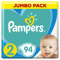 Акция на Подгузники Pampers New Baby Размер2 4-8 кг, 94 подгузника от Auchan