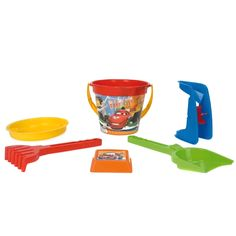 Акция на Набор для песка Wader Тачки Disney, красная лопатка и салатовые грабли от Auchan