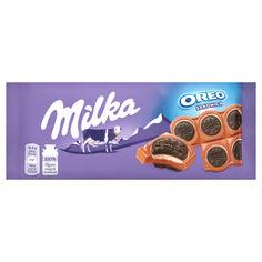 Акция на Шоколад молочный Milka с ванильной начинкой и печеньем Oreo, 92 г от Auchan