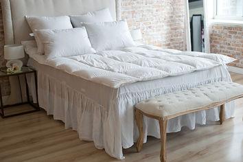 Акция на Одеяло пуховое 90% серый пух SoundSleep Zero gravity демисезонное 140х205 см вес 500 г от Podushka