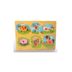 Акция на Развивающая игрушка рамка-вкладыш Bambi MD 1309 Животные2 от Allo UA