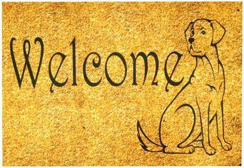 Акция на Придверный коврик IzziHome Peppina Kapi Welcome Dog 40x60 (2200000553577) от Rozetka