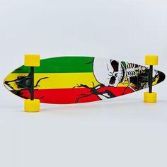 Акция на Лонгборд деревянный профессиональный из канадского клена 41in круизер SK-0318 Зеленый-желтый-красный от Allo UA