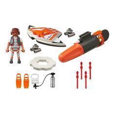 Акция на Конструктор Playmobil Top agents Шпионское подводное крыло (70004) от Будинок іграшок