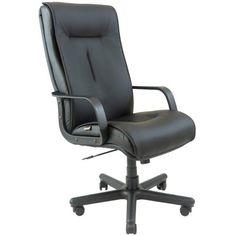 Акция на Офисное Кресло Руководителя Boston Кожа Комбо Люкс Пластик М2 AnyFix Черное от Allo UA