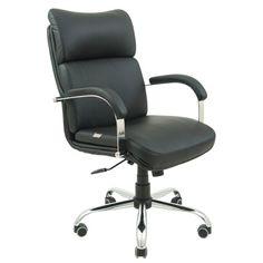 Акция на Офисное Кресло Руководителя Dakota Кожа Люкс Хром М2 AnyFix Черное от Allo UA
