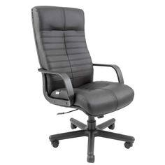 Акция на Офисное Кресло Руководителя Orion Кожа Комбо Люкс Пластик М1 Tilt Черное от Allo UA