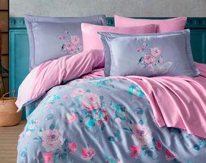 Акция на Комплект постельного белья Hobby Exclusive Sateen Calvina сиреневый 200х220 (8698499154513) от Rozetka