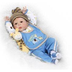 Акция на Силиконовая Коллекционная Кукла Реборн Reborn Мальчик Лёва ( Виниловая Кукла ) Высота 57 См от Allo UA