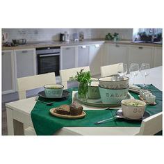 Акция на Салатник керамический Excellent Houseware Soup 554602040, 15х8 см, бирюзовый от Auchan