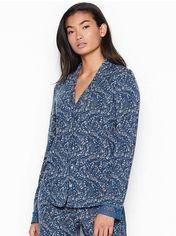 Акция на Пижамная рубашка Victoria's Secret 45065844 S Синяя (1159752408) от Rozetka
