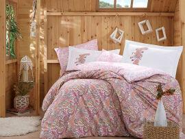 Акция на Постельное белье Hobby Poplin Giulia розовый Двуспальный евро комплект от Podushka