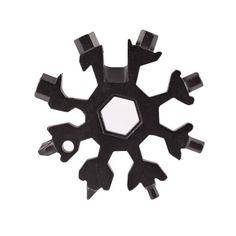 Акция на Мультитул (набор ключей) 18 в 1 Снежинка (отвертка, шестигранник, гаечный ключ) Black (5626) от Allo UA