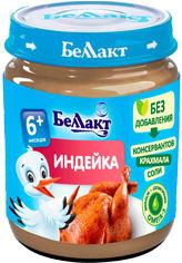 Акция на Упаковка мясного пюре из мяса индейки Беллакт для питания детей раннего возраста 95 г х 16 шт (4814716001055) от Rozetka