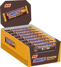 Акция на Упаковка батончиков Snickers Creamy 36.5 г х 24 шт (5900951283956) от Rozetka