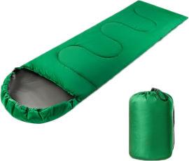 Акция на Спальник-одеяло Champion с капюшоном Зеленый (CHM00454-3) от Rozetka