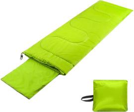 Акция на Спальник-одеяло Champion с подголовником Лайм (CHM00453-1) от Rozetka