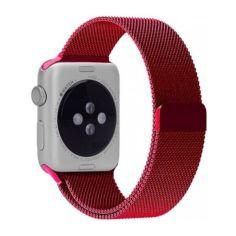 Акция на Металлический ремешок Milanese для Apple Watch 38/40/42/44 мм Red (HbP050597) от Allo UA