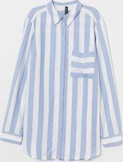 Акция на Рубашка H&M 0713698-9 42 Голубая (2000001574089) от Rozetka