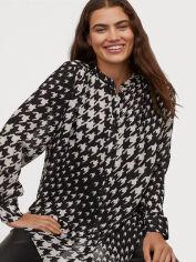 Акция на Рубашка H&M 0842606-1 S Черная (2000001661109) от Rozetka