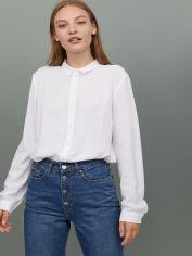 Акция на Рубашка H&M 0689389-9 34 Белая (2000001607886) от Rozetka