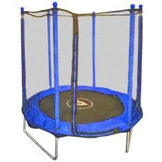 Акция на Батут Atleto 152 см с внешняя сетка, синий - качественный батут для взрослых и детей! от Allo UA