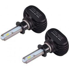 Акция на Лампы светодиодные LED в авто сверхяркие 8000lm с цоколем H3 мощностью 50W и цветовой температурой 6500K XPRO COKOL LED S1-H3 комплект 2 шт от Allo UA