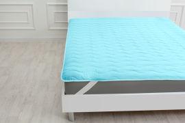 Акция на Наматрасник MirSon Eco Light №1716 Wool обычный на резинке по углам Blue 180x190 см (2200002889131) от Rozetka