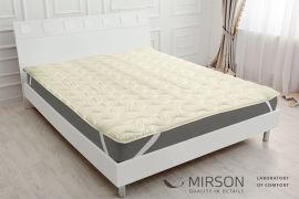 Акция на Наматрасник MirSon Eco Light №1726 Silk обычный на резинке по углам Creamy 90x200 см (2200002891042) от Rozetka