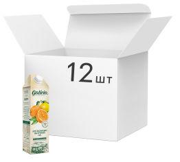 Акция на Упаковка сока Galicia Апельсиново-яблочный неосветлённый пастеризованный 1 л х 12 шт (4820209563528) от Rozetka