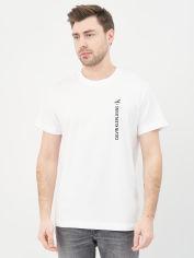 Акция на Футболка Calvin Klein Jeans Ck Vertical Back Graphic Tee J30J318303-YAF M Bright White (8719853726068) от Rozetka