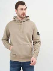 Акция на Худи Calvin Klein Jeans Monogram Sleeve Badge Hoodie J30J314036-PBU 2XL Elephant Skin (8719853559949) от Rozetka