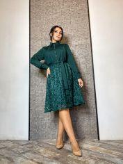 Акция на Платье DNKA ат41209 42-44 Темно-зеленое (2000000565767_ELF) от Rozetka