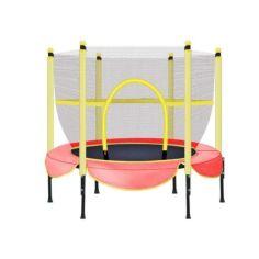 Акция на Детский батут Profi круглый диаметр 153 см BT-RJ-0078 красный, с сеткой от Allo UA