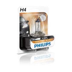 Акция на Авто лампа H4 PHILIPS 60/55W 12V P43t Premium от Allo UA
