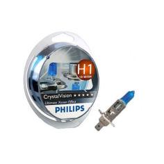 Акция на Авто лампа H1 PHILIPS 55W 12V Cristal Vision. Сверх яркий белый! от Allo UA