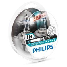 Акция на Авто лампа H4 PHILIPS 60/55W 12V P43T X-treme Vision +130% от Allo UA