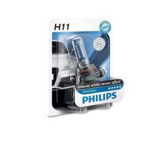 Акция на Авто лампа H11 PHILIPS 65W 12V PGJ19-2 White Vision +60% от Allo UA