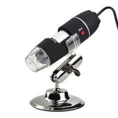 Акция на USB микроскоп электронный цифровой с увеличением 1600 x Ootdty DM-1600, 2 Мп, 8 LED подсветка от Allo UA
