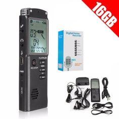 Акция на Портативный цифровой диктофон DOITOP T-60, VAS, 16 Гб, MP3, стерео, аккумуляторный от Allo UA