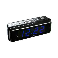 Акция на Часы сетевые VST-738-5 синие 220V от Allo UA