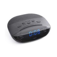 Акция на Часы сетевые VST-908-5 синие радио FM 220V от Allo UA