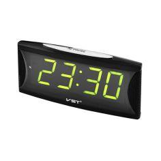 Акция на Часы сетевые VST-719-2 зеленые USB от Allo UA