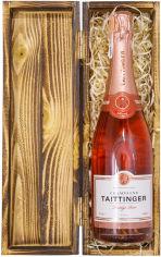 Акция на Шампанское Taittinger Prestige Rose розовое сухое 0.75 л 12.5% в подарочном деревянном футляре (111112) от Rozetka