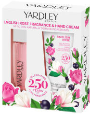 Акция на Набор для женщин Yardley English Rose Hand Cream & Purse Spray 50 мл + 14 мл (5056179301832) от Rozetka