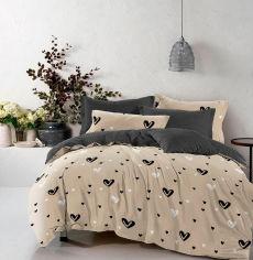 Акция на Комплект постельного белья MirSon Бязь Premium 17-0436 Cream love 220х240 (2200002995931) от Rozetka